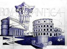 A nice composition that fits 4 separate pieces on the same page. The foreground Ionic Capitol could have used thicker lines to look a bit stronger as a foreground element. Pen on Standard Paper, 6 Hours Completion Time Ancient Greek Architecture, Roman Architecture, Architecture Sketches, Water Drawing, Drawing Sketches, Drawings, House Drawing, Urban Sketchers, Wow Products