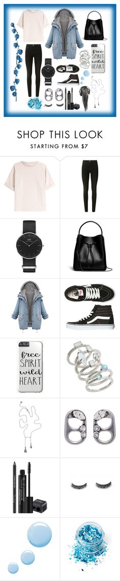 """Denim jacket"" by jumainakmir ❤ liked on Polyvore featuring Brunello Cucinelli, J Brand, Daniel Wellington, 3.1 Phillip Lim, Vans, Kendra Scott, Marc Jacobs, Rodial, Topshop and In Your Dreams"