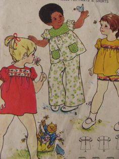 1970's Sewing Pattern  Butterick 3218 Toddlers by jennylouvintage