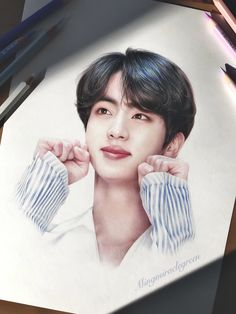 Portrait Sketches, Art Drawings Sketches Simple, Anime Boy Sketch, Color Pencil Sketch, Kpop Drawings, Aesthetic Drawing, Bts Korea, Bad Girl Aesthetic, Kpop Fanart