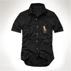 Ralph Lauren Men's Big Pony Short Sleeved Shirts Black [rl 738] - £24.35 : Ralph Lauren Polo Outlet UK   http://2015pololove.tumblr.com/