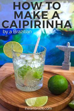 How To Make Caipirinha, Caipirinha Recipe, Caipirinha Cocktail, Cocktail Drinks, Cocktail Recipes, Drink Recipes, Liquor Drinks, Bourbon Drinks, Vodka Drinks
