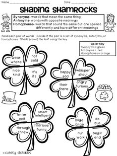 Freebie- Synonym, Antonym, and Homophone Practice