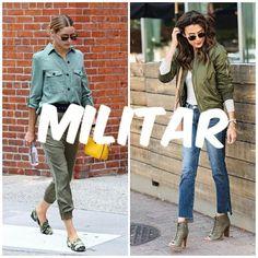 Post novo no blog: Como usar a tendência #militar? Link na bio!  #military #militaire #trend #tendenciademoda #tendencia