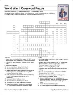 1000+ images about crossword on Pinterest | World War II