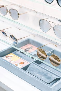 b7afd2e9c0ec Sunglasses in the Shanghai Store.
