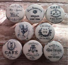 Vintage Handmade Kitchen Knobs CAFE Drawer by PinkSugarVintage, $39.00---------------FOR THE KITCHEN