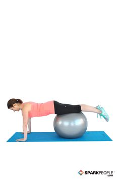 Pushups on the Ball. Love this modified version of a push-up! The ball makes it more fun lol. Running Workouts, Fun Workouts, At Home Workouts, Ball Workouts, Circuit Workouts, Workout Ideas, Arms And Abs, Spark People, Stability Ball