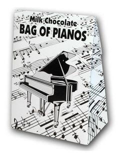 Belgian Milk Chocolate Bag Of Pianos - 100g - Gifts | www.musicroom.com