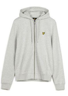 Zip Through Hoodie in Grey