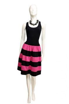 BusyGirl / Suknička čierno ružová....