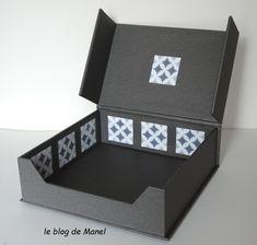 Les cartonnages de Manel / distributeur de serviettes Blog, Decorative Boxes, Cartonnage, Sewing Box, Towel Paper, Towels, Bricolage, Blogging, Decorative Storage Boxes