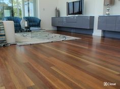 Spotted gum floors throughout dining, family and ktchen areas