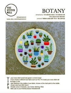 Botany Modern cross stitch pattern PDF Instant download