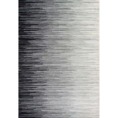 nuLOOM Geometric Abstract Stripes Fancy Black Area Rug (8' x 10') - Free Shipping Today - Overstock.com - 17461391 - Mobile