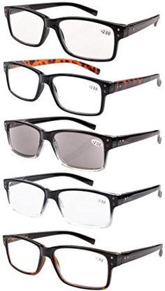 49c145ddd953 Eyekepper 5-pack Spring Hinges Vintage Reading Glasses Men Includes Sun  Readers +1.25