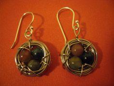 HANDMADE Silver Bird's Nest Earrings ($12)