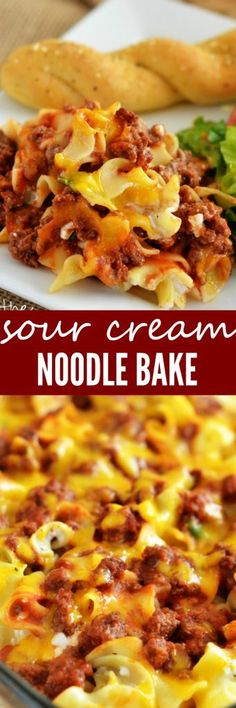 I've found another easy and delicious dinner recipe for my family and this Sour Cream Noodle Bake is it! This recipe comes from the amazing Pioneer Woman aka. my idol. This noodle bake is (Favorite Recipes Pioneer Woman) Beef Casserole, Casserole Dishes, Casserole Recipes, Vegtable Casserole, Zuchinni Casserole, Pierogi Casserole, Zoodle Casserole, Pierogi Recipe, Recipe Pasta