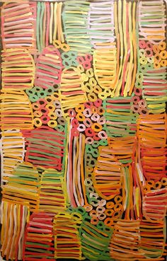 Minnie Pwerle Have students write their name in block letters filled in with horizontal lines. Use a contrasting line in the negative space (e. Metallic Gel markers would be great for this. Indigenous Australian Art, Indigenous Art, Australian Artists, Aboriginal Painting, Aboriginal Artists, Kunst Der Aborigines, Stippling Art, Aboriginal Culture, Art Plastique