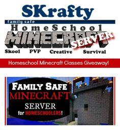 MINECRAFT GIVEAWAY: SKrafty Homeschool Minecraft Classes (5 Winners!)
