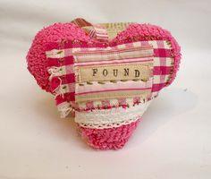 """found"" scrappy heart"