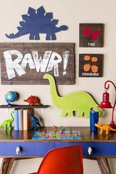 Dinosaur Kids Room, Dinosaur Room Decor, Dino Kids, Boys Dinosaur Bedroom, Dinosaur Dinosaur, Boys Bedroom Decor, Playroom Decor, Toy Rooms, T Rex