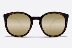 Quay Dixi Tortoise Shell Sunglasses, Gold Mirror Lenses