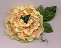 Vintage Ribbon Roses  Replicate the look of crushed and faded roses with new French wired ribbon.