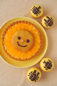 sunny cake & beetle cupcakes