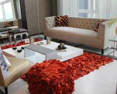 Rose Petals Square Red/Black/Off White Pillow Texture, Luxury Decor, Home Decor Kitchen, Rose Petals, Apartment Ideas, Pillows, Living Room, Projects, Red