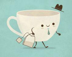 ¿Un cafecito? - tea goes to work!