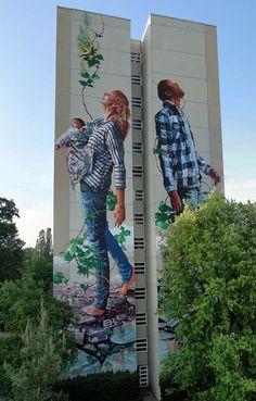 Street art, grafite, fotografias, intervenção urbana