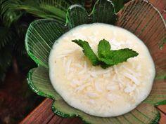iogurte de leite de coco com biomassa
