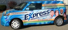 Express Pros / employment services / vehicle graphics / car graphics / vehicle wraps / car wraps / full wraps / Indianapolis