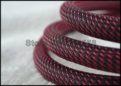 5M 16MM  Nylon Mesh  Red+Black (N)Screen  Braided Sleeving