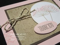 A Summer Silouettes thank you card featuring the Faux Suede technique - Stampin' Up!® - Stamp Your Art Out! www.stampyourartout.com