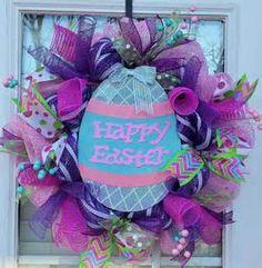 Easter Mesh Wreath - Bing Images