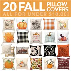Fall pillow covers