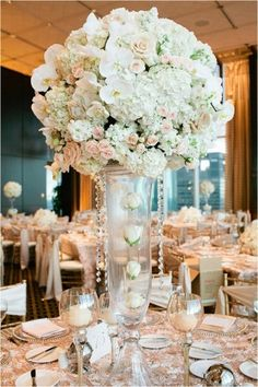 Gorgeous White Centerpieces