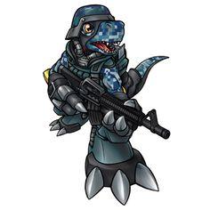 Commandramon - Rookie level Cyborg Digimon