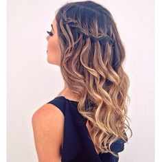 """The half waterfall braid - what do you think?! We think it's super pretty.  www.hellohair.com.au"