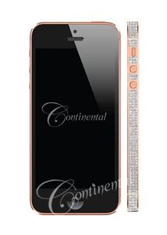 Truffol.com | Continental Mobile Apple iPhone 5 32GB Black Luxury Mobile Phone 18k Rose Gold and Diamonds $19442.82