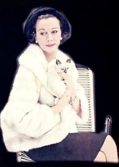 0 vivien leigh and cat