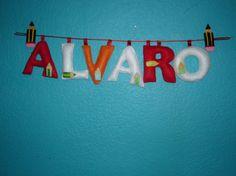 Nombres en 3D para los cuartos!!! / Cosetes de Marta - Artesanio