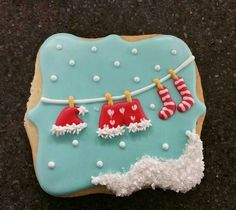 #christmascookies Found this adorable idea on a closed group on faceboom. I'm sorry, I don't have a source