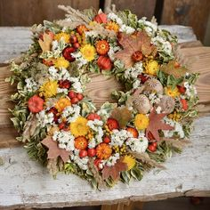Autumn natural wreath, dried flowers Dried Flowers, Fall Decor, Floral Wreath, Wreaths, Autumn, Natural, Home Decor, Dry Flowers, Decoration Home