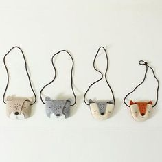 Cute and chic animal bag An essential item for little one's outing, easy to keep small toys or little treasures. Available in 4 designs:Bear (Grey)Bear (Beige)Fox(Orange)Fox(Grey)