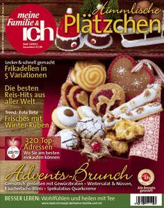 meine Familie & ich: 12/2012 Weihnachtskekse / Advents-Brunch / Winter-Rüben burdafood.net/Eising Studio – Food Photo & Video, Martina Görlach  http://www.burda-foodshop.de/Einzelhefte/Einzel-meine-Familie-ich/