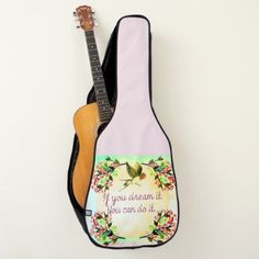 If You Dream It You Can Do It.. Guitar Case - home decor design art diy cyo custom