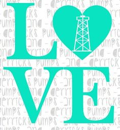 6x6 LOVE Oilfield Decal Custom Color/Graphic by PUMPSandDERRICKS, $7.50